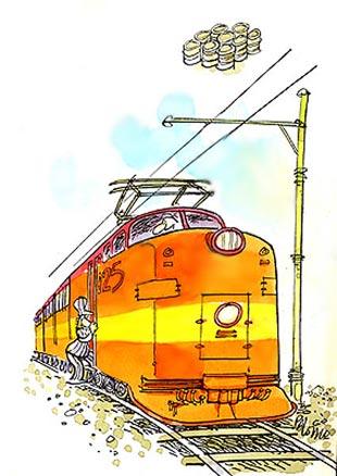 Imagen de un ferrocarril eléctrico
