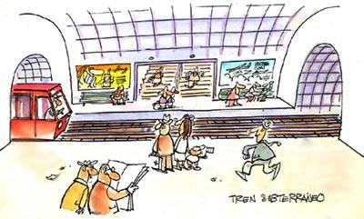 Imagen de un tren subterráneo
