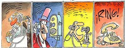Imagen de las varias etapas que ha tenido el teléfono