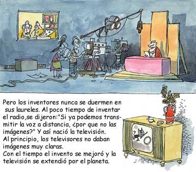 Imagen de una transmisión por televisión y un televisor