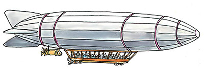 Imagen de un zepelin