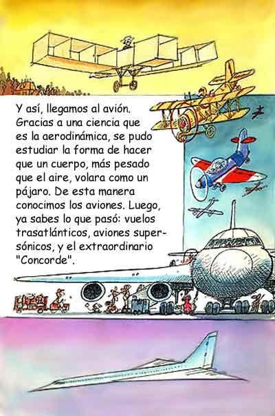 Imagen de la evolución del avión