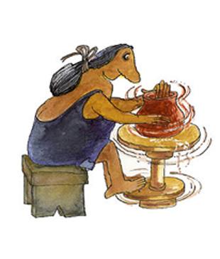Imagen del torno para hacer cerámica