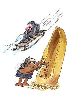 Imagen de la construcción de canoas y trineos
