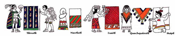 Imagen de diferentes vestimentas indígenas